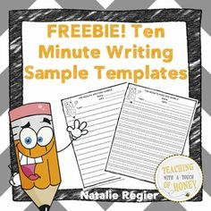 FREEBIE! Looking for a way to collect writing samples from your students to formatively assess their learning? Use these ten minute writing samples with your students.
