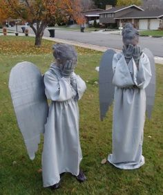 DIY Weeping Angel costumes
