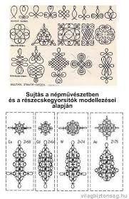 "Képtalálat a következőre: ""magyar zsinórozás minták"" Hungarian Embroidery, Folk Embroidery, Embroidery Stitches, Embroidery Patterns, Sewing Patterns, Motif Soutache, Soutache Pattern, Embroidery Techniques, Sewing Techniques"