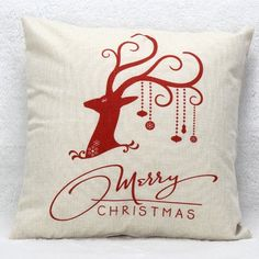 5.53$  Buy now - http://di7p9.justgood.pw/go.php?t=202543302 - Christmas Elk Pattern Cushion Throw Pillow Cover
