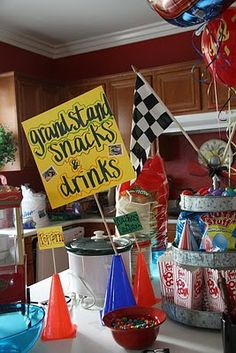 cute ideas for a hot wheels birthday party