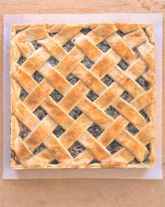 Easter Pie by Martha Stewart ((Savory pie to include spinach, prosciutto and cheeses.))
