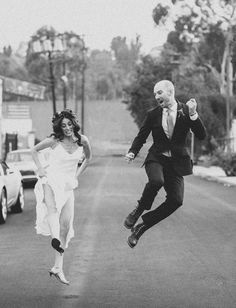 happy bride and groom shot by Rad + In Love