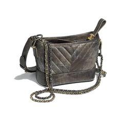 f7b33acf71cc CHANEL'S GABRIELLE Small Hobo Bag - Dark silver & gold - Metallic Grained  Goatskin, Silver
