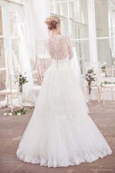 Lace back and sleeves.