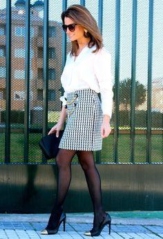 Style Inspiration: 1 - OML Shop (info@ohmylooks.com) Skirts / 2 - El Corte Ingles Shirt / 3 - Michael by Michael Kors Bags / 4 - Mango Heels