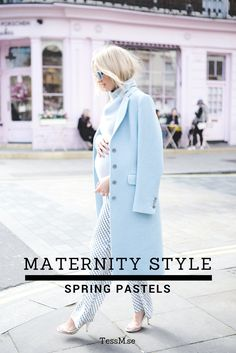Maternity style   Spring Pastels Outfit   How to dress during pregnancy   Women's fashion   London street style