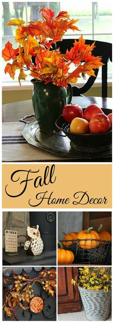 Lots of fall home decor inspiration!