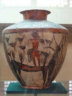 Ceramica del periodo de Uruk,esta en el museo de Bagdad