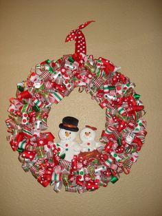 Christmas ribbon wreath