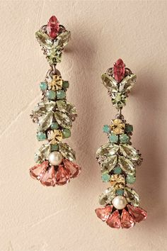 tropical hues | Deneuve Drop Earrings from