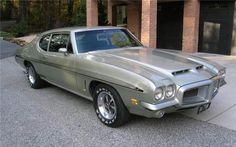 An original 1972 Revere Silver LeMans GTO (reverted to option status on base coupes & hardtops) coupe with black interior; NOM manual/Saf-T-Track (posi) limited-slip rear end. PHS documented (naturally) and 1 of 59 built with this equipment, Pontiac Lemans, Pontiac Cars, Pontiac Firebird, Chip Foose, General Motors, Custom Trucks, Custom Cars, American Muscle Cars, Collector Cars
