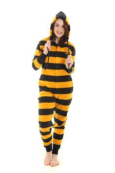 aa9fc07afb Adult Onesie Pjs Non Footed Pajamas Black Gold Stripe Jumpsuit XS-XXL Size  on Height - CZ11CJOJP1H