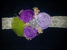 Banda con flores de cinta