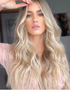 2019 popular hair color is refreshing and white, brown series becomes the biggest winner – Page 26 – Hairstyle Blonde Hair Looks, Blonde Wavy Hair, Hair Day, Balayage Hair, Human Hair Wigs, Gorgeous Hair, Wig Hairstyles, Hair Inspiration, Curly Hair Styles