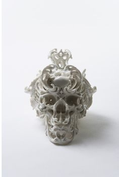 Japanese sculptor Katsuyo Aoki's exquisite porcelain skulls will make your jaws drop and your eyes pop out!