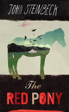 The Red Pony cover, from Steinbeck series designed by Kathryn Macnaughton (http://www.kathrynmacnaughton.com)