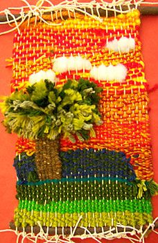 . My 5th graders keep asking if we can do weaving this year... I suppose I'll hae to squeeze one in! They're obsessed. haha value landscape in background Weavings