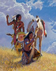 """The Telling Wind by R. S. Riddick, CAA 64"""" high X 50"""" wide SOLD - Wood River Fine Arts"""