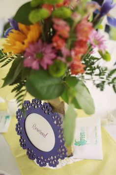 "Very pretty ""reserved"" signs! Have your wedding at Greenwell State Park. www.GreenwellFoundation.org. Photo by Melissa Barrick. www.MelissaBarrickPhotography.com."
