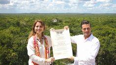 Campeche: Recibe Peña Nieto nombramiento de Calakmul como Patrimonio Mixto de la Humanidad...