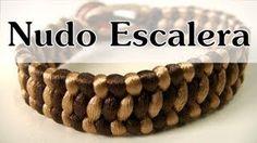 Manualidades DIY - Pulsera Con Nudo Escalera Macrame Knots, Micro Macrame, Macrame Jewelry, Macrame Bracelets, Diy Jewelry Videos, Jewelry Making Tutorials, Jewelry Crafts, Macrame Tutorial, Bracelet Tutorial