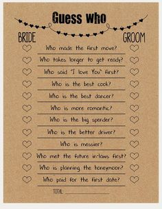 Whatever they said about bridal shower decorations Rustic Diy-D . Whatever they said about bridal shower decorations Rustic Diy-D . - Whatever they said about bridal shower decorations, rustic DIY decor is absolutely wrong … and he - Printable Bridal Shower Games, Bridal Shower Invitations, Funny Wedding Invitations, Couple Shower Games, Couple Games, Bridal Shower Planning, Bridal Shower Checklist, Prom Checklist, Reception Checklist