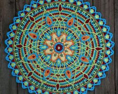 Crochet Overlay Mandala No. 8 Pattern PDF by CAROcreated on Etsy