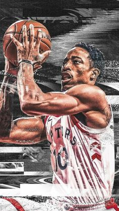 Basketball Stuff, Basketball Posters, Basketball Is Life, Basketball Funny, Sports Images, Sports Pictures, Sports Art, Toronto Raptors, Sports Drawings