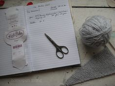 What a smart idea to record your crochet/knitting projects in a notebook.
