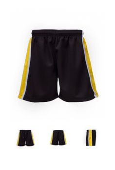 PS 1016 - Panelled Shorts with taping. Fully functioning draw cords bar tacked in the centre to prevent the cord being pulled out. All Polyester Popcorn