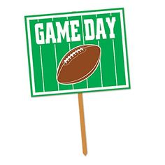Beistle Game Day Yard Sign 12 by 15Inch GreenWhiteBrown ** Find out more about the great product at the image link.Note:It is affiliate link to Amazon.