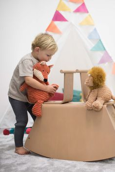 Encourage imagination and grow their balancing skills with our wooden Thetis Rocking Horse. This modern take on a traditional toy can be treasured for years to come with the option to transform into both a see-saw and storage box. Colorful Playroom, Playroom Ideas, Kids Bedroom, Bedroom Ideas, Traditional Toys, Seesaw, Imagination, Toddler Bed, Horses