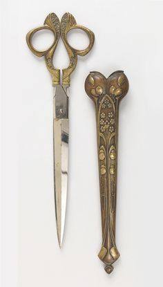 Scissors, 1900. Cast copper and brass, with forged steel blades. Germany. Via Cooper Hewitt