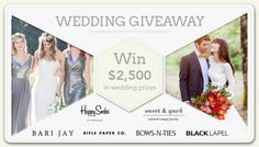 Win $2,500 in Wedding Prizes http://virl.io/fQukzXjH