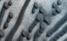 Martian Morse Code This image of dark dunes on Mars was taken on Feb. 6 2016 by the HiRISE camera on NASA's Mars Reconnaissance Orbiter. These dunes are influenced by local topography. The shape and orientation of dunes can usually tell us about wind direction but in this image the dune-forms are very complex so its difficult to know the wind direction.