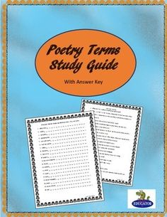 poetry analysis test pdf with answers