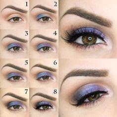 Trucco occhi viola