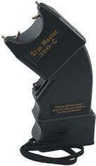 The classic Stun Master SM-300C Stun Gun. A 300,000 volt curved stun gun. Pinned from www.extremedefens...