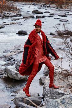 Arlenis Sosa Is Lensed By Caleb & Gladys For Harper's Bazaar Kazakhstan January 2018 — Anne of Carversville Fashion Shoot, Editorial Fashion, Fashion Models, Dolly Fashion, Funky Fashion, Street Fashion, Black Women Fashion, Harpers Bazaar, Casual Street Style