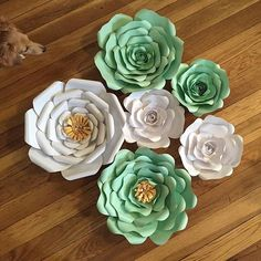 Mint green and gold! And of course Mia had to do a photobomb #itsfriday #happyfriday #connecticut #ct #paperflowers #diy #ilovemydog #dachshundsofinstagram #thewallflowergirl #wildflowers #flowerlove #flowerpower