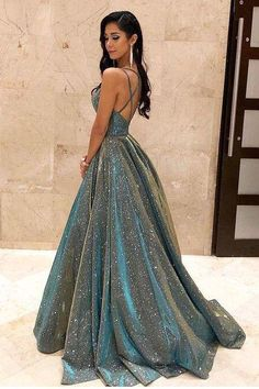 Prom outfits - Fashion Ball Gown V Neck Sparkly Satin Long Prom Dresses with Pockets, Cross Back Evening Dresses – Prom outfits Prom Dresses With Pockets, A Line Prom Dresses, Sexy Dresses, Summer Dresses, Homecoming Dresses, Straps Prom Dresses, Casual Dresses, Midi Dresses, Quinceanera Dresses