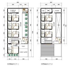 Hasil Gambar Untuk Desain Rumah Luas 6x9 Dengan 3 Kamar Rumah Denah Rumah Denah Desain Rumah