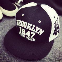 reputable site 1d123 7d2a4 1947 Brooklyn Style Hat Gorras Planas Snapback Caps New York Hip Hop Hat