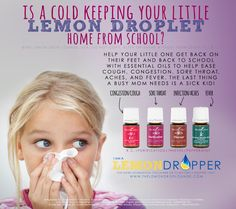 Young Living Essential Oils - R.C., Purification, Thieves, Peppermint for common cold, flu, congestion, cough, sore throat, fever, pain.