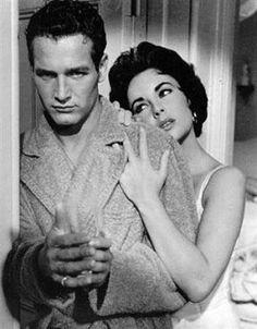 Paul Newman y Elizabeth Taylor en 'La gata sobre el tejado de zinc' (Richard Brooks, 1958)
