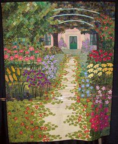 Monet's Garden by Eun Sook An -- art #quilt