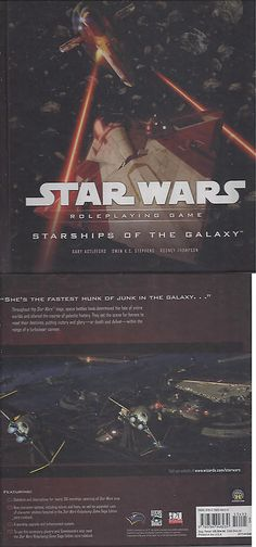 Other Role Playing Games 1183: Star Wars Rpg Starships Of The Galaxy Hc -> BUY IT NOW ONLY: $94.99 on eBay!
