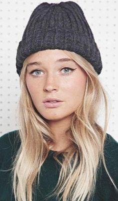 knit hat...