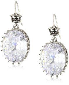 Juicy Couture Earrings Clear Large Oval Drop Earrings